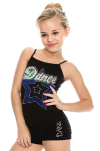 KIDS DANCE STAR SEQUIN FULL LENGTH CAMI
