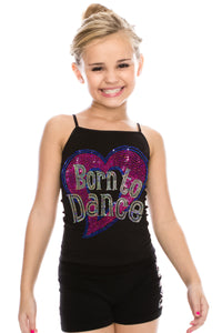 KIDS BORN TO DANCE SEQUIN CAMI