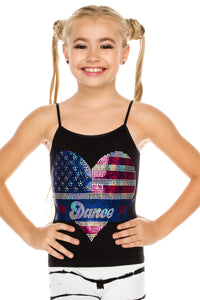 KIDS AMERICAN FLAG SEQUIN CAMI