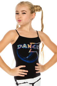 KIDS DANCE STAR SEQUIN CAMI TOP
