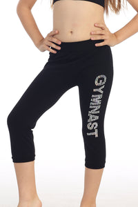 "KIDS ""GYMNAST"" SEQUIN CALF LEGGING"