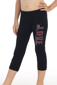 KIDS LOVE DANCE STUD LEGGINGS