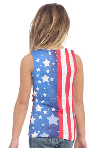 KIDS AMERICAN FLAG PRINT TANK TOP