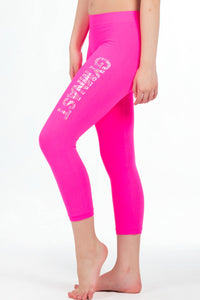 GYMNAST SEQUIN CALF LEGGING