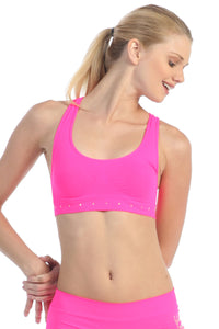 RHINE STONE BAND RACERBACK SPORTS BRA