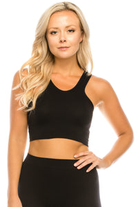 SCOOP NECK CROP TOP