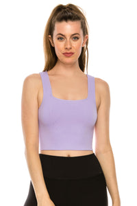SQUARE NECK CROP TANK