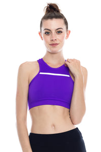 DOUBLE LAYERED MESH RACERBACK SPORTS BRA