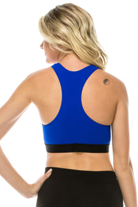 FRONT LACE UP RACERBACK SPORTS BRA