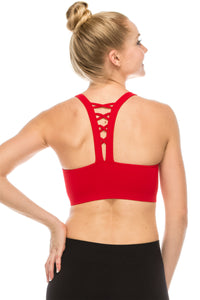 LACE UP BACK SPORTS BRA