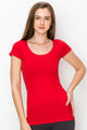 SCOOP NECK CAP SLEEVE TOP