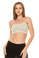 RUCHED FRONT TUBE TOP