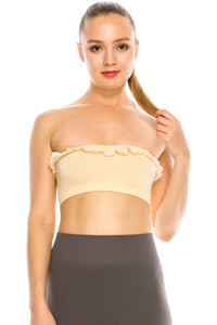 LACE TRIM TUBE TOP