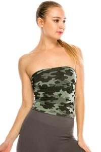 CAMOUFLAGE TUBE TOP