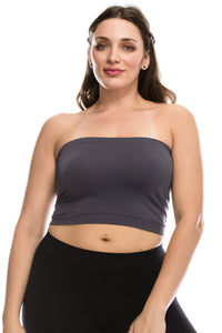PLUS SIZE TUBE TOP