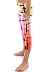 KIDS MULTI COLORED TIE DYE LEGGINGS