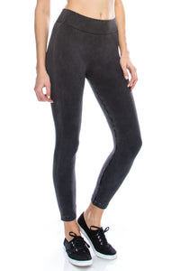 ACID WASH RUN MAJOR CALF TIGHTS