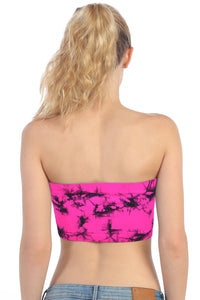 TIE DYED LACE TUBE TOP