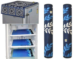 Panda ™ Fridge Covers (1 Top Cover + 2 Handle Covers + 3 Mats)