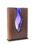 "Clean Cut ""Walnut Wood"" with Hand blown Amethyst Glass ""Amphora"""
