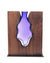 "Clean Cut Walnut Wood with Handblown Amethyst ""Blackberry"""