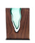 "Clean Cut Walnut Wood with Handblown Emerald Glass ""Lake"""