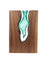 Handblown Emerald Glass with Walnut Wood