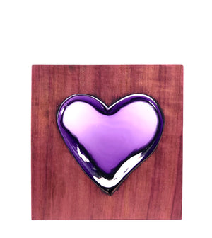 Purple Heart Wood with Amethyst Glass