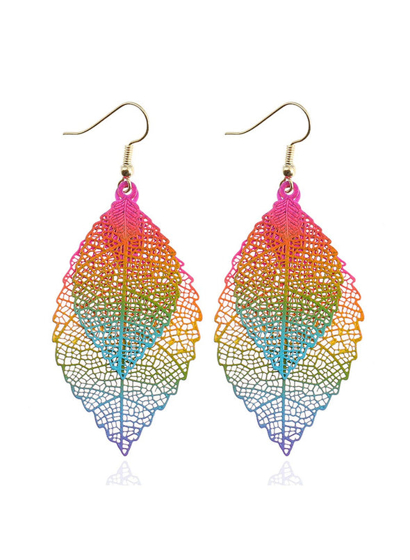 Multicolor Woemn's Earrings Solid Plants Electroplate Earrings LC01852-22