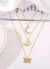 Gold Women's Necklaces Solid Alloy Necklaces LC011322-12