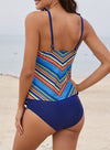 Sky Blue Chevron Tankini Set