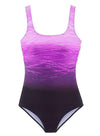 Gradient Criss Cross Back Monokini