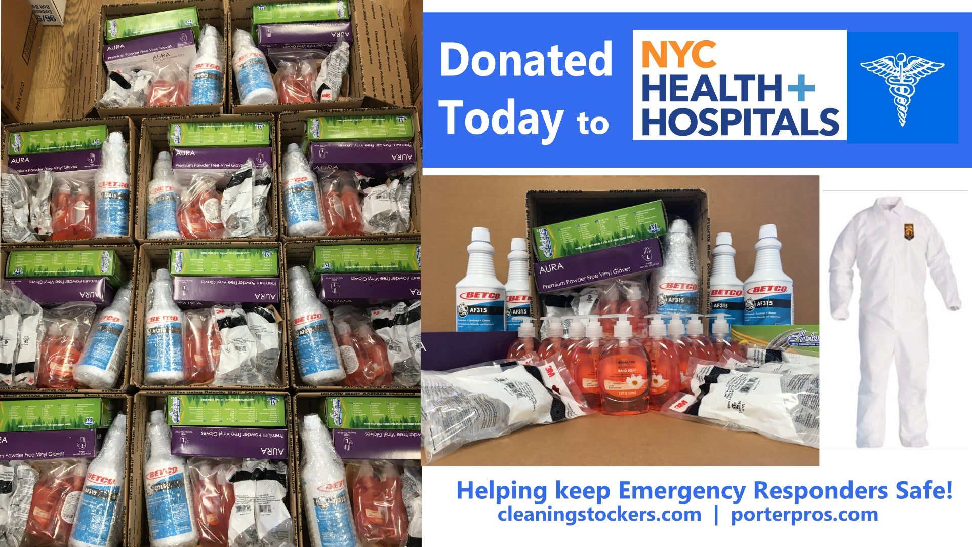 Donated to 11 NYC Hospitals