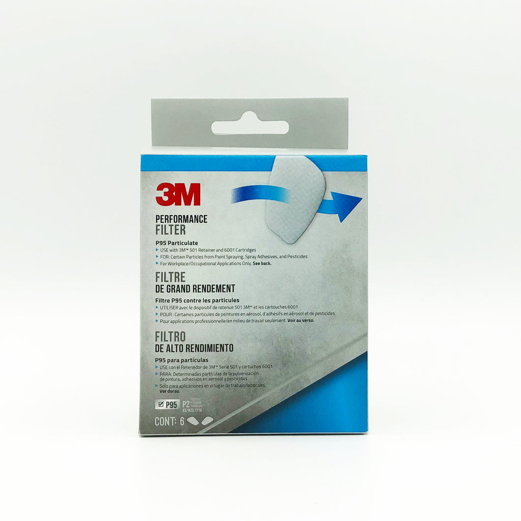 3M P95 Particulate Replacement Filters (6-Pack)