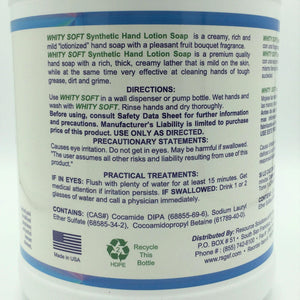 Resource Synthetic Hand Lotion Soap - Whity Soft - 1 Gallon