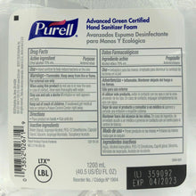 Load image into Gallery viewer, Purell Advanced Green Certified Hand Sanitizer Foam Refill (1904-641)