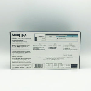 Ambitex Black Disposable Powder-Free Nitrile Exam Gloves - 90 Gloves (XXL)