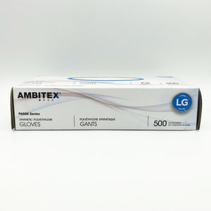 Ambitex P6505 Clear Synthetic Polyethylene Gloves - 500 Gloves/Box (Large)