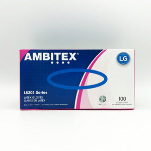 Ambitex L5201 Series Powder-Free Cream Latex Gloves - 100 Gloves/box (Large)