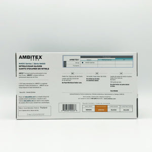 Ambitex Royal Blue Nitrile Powder-Free Select Exam Gloves - Medium (100 Gloves)