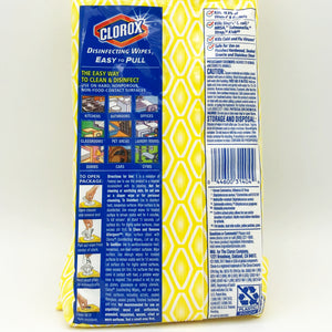 Clorox Disinfecting Wipes Crisp Lemon Scent - 75 Wipes (Bleach Free)