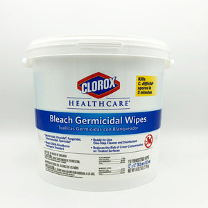 Clorox Healthcare Bleach Germicidal Wipes Pail - 110 Count