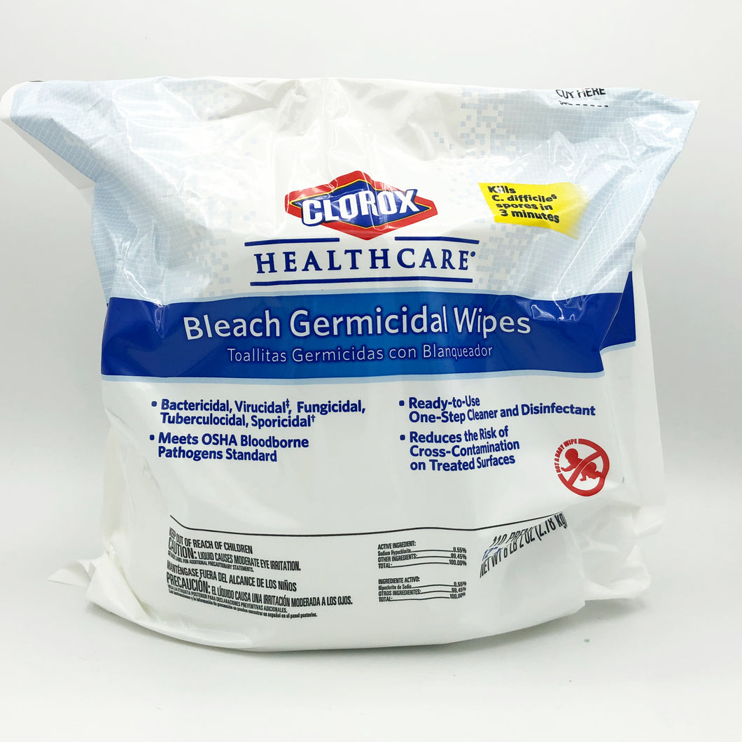 Clorox Healthcare Bleach Germicidal Wipes Refill - 110 Wipes