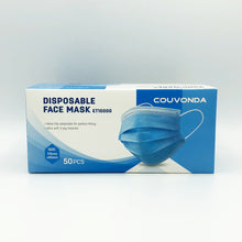 Load image into Gallery viewer, Disposable Earloop Face Mask Blue - 50pcs/Box (WXDKZ0007E)
