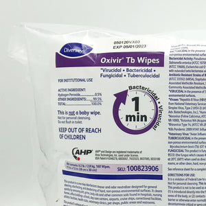 Diversey Oxivir Tb Disinfecting Wipes - 160 Wipes
