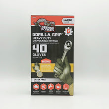 Load image into Gallery viewer, GORILLA GRIP 6 Mil Disposable Gray Nitrile Gloves - Large (40ct)
