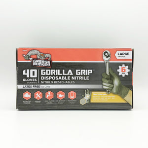 GORILLA GRIP 6 Mil Disposable Gray Nitrile Gloves - Large (40ct)