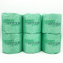 Load image into Gallery viewer, Green Heritage 2-Ply White 100% Recycled Bathroom Tissue (Pack of 6)