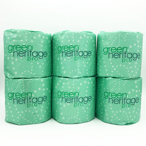 Green Heritage 2-Ply White 100% Recycled Bathroom Tissue (Pack of 6)