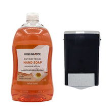 Load image into Gallery viewer, Highmark Antibacterial Hand Soap Refill + Liquid Soap Dispenser Bundle